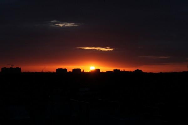 Закат над Новочеркасской рощей